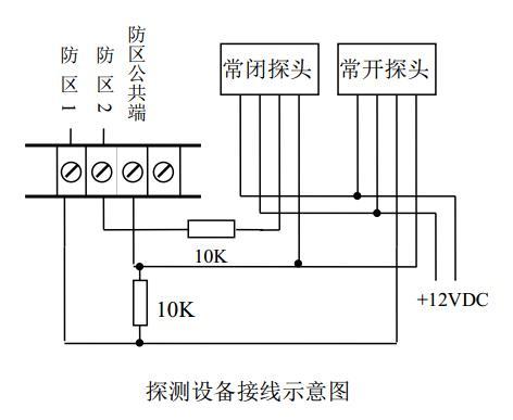 no和c,nc,图中是以if-9400p自带防区为例,触发方式为开路或短路报警的